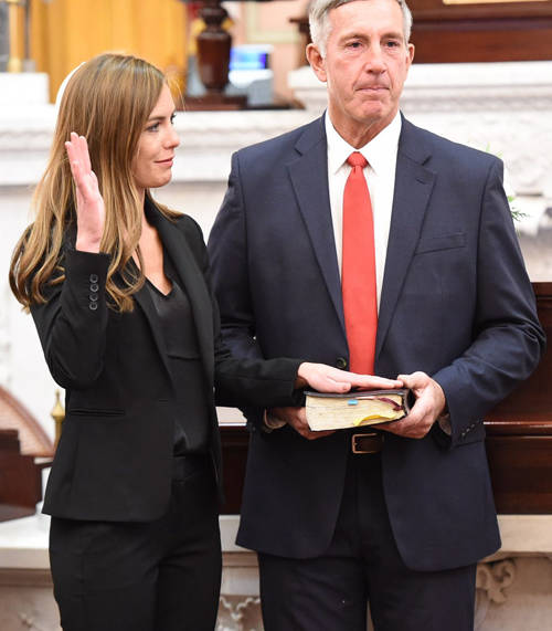 Jena Powell of Arcanum was sworn in to her first term as a member of the Ohio House of Representatives, representing the 80th District.