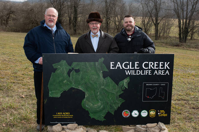 In December the ODNR Division of Wildlife closed on property in southwest Brown County. The newly purchased parcel will be known as the Eagle Creek Wildlife Area.