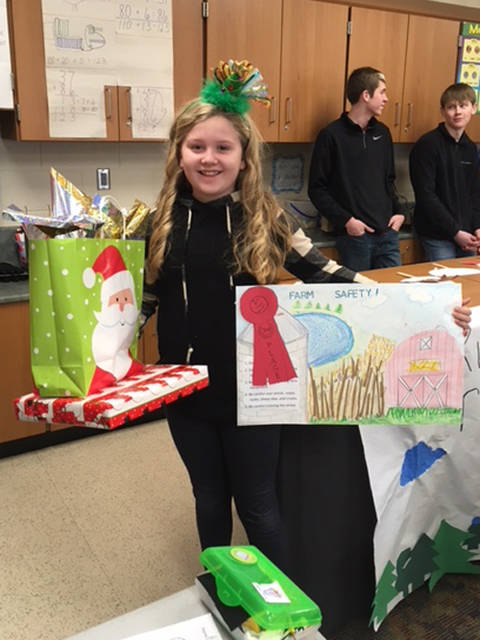 Aleta Longfellow placed second in the farm safety poster contest.
