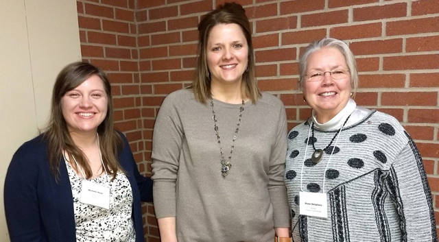 Pictured (l-r) at the Greenville Business & Professional Women's Club meeting on Jan. 10 are Michelle Hook, Young Careerist Loure Bohn and Diane Delaplane.