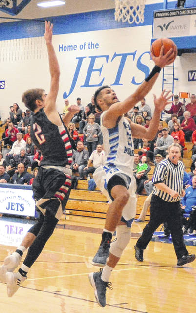 Franklin-Monroe senior Ethan Conley is the current Darke County boys basketball leader in both scoring and rebounds.