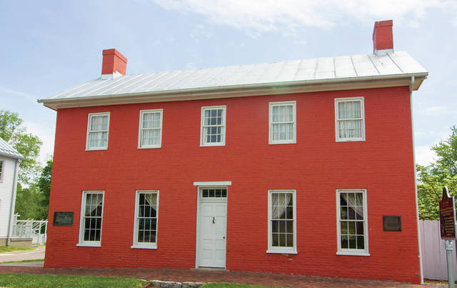 Levi Coffin built this eight-room Federal-style brick home in Fountain City, Indiana in 1839. The home was a popular station on the Underground Railroad.