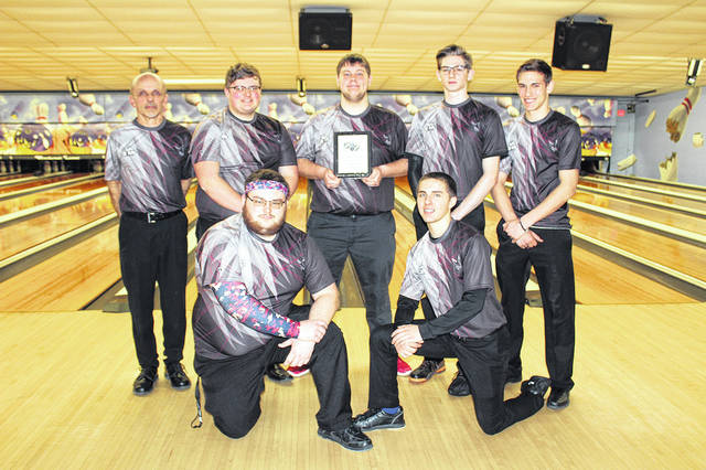 The Mississinawa Valley boys bowling team won the year-end team tournament championship last Saturday.