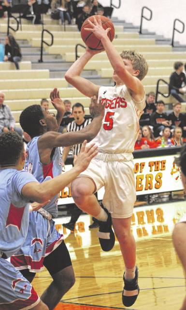 Michael Stammen of Versailles is among the Darke County scoring leaders in boys basketball for the 2018-19 season.