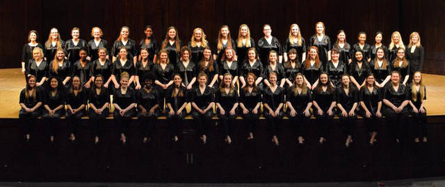 """Ohio State Women's Glee Club will perform """"The Echoing Green,"""" """"Suscepit Israel,"""" """"1941,"""" """"Richer for Her,"""" """"Love is a Rain of Diamonds"""" and """"Cancion de los Tsachilas."""""""