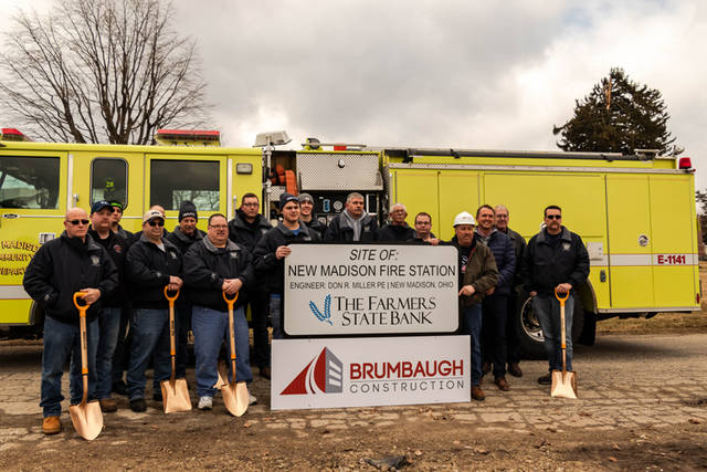 The New Madison Volunteer Fire Department broke ground for a new fire station on Sunday.