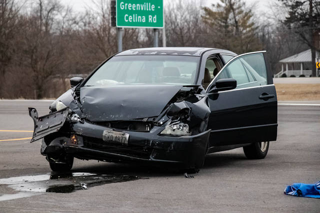 One person was transported to the hospital following a two-vehicle crash at the intersection of U.S. Route 127 and Greenville-Celina Road.
