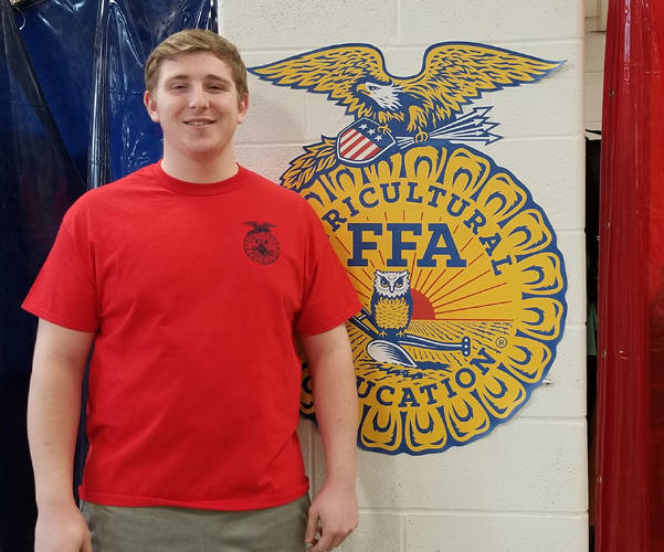 DJ Howell has been named the Mississinawa Valley MVCTC FFA chapter January member of the month.