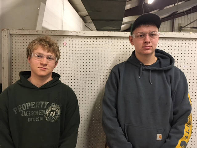 Versailles FFA members who competed in the District Ag Power contest included (l-r) Jon Gehret and Jacob Wuebker.