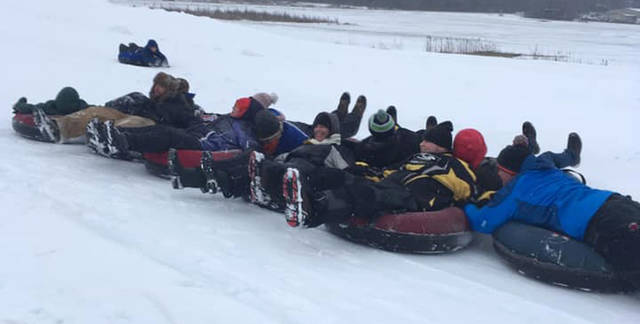 The Ansonia Animal 4H Club spent two hours snow tubing at Valleys Edge.