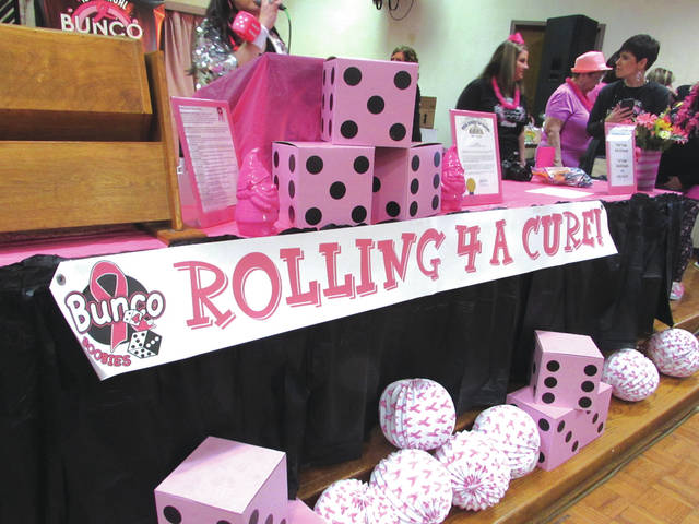 "Bunco 4 Boobies held its 10th annual ""Rolling 4 A Cure"" fundraiser Sunday night. The group raises money for local cancer patients who are undergoing treatment."