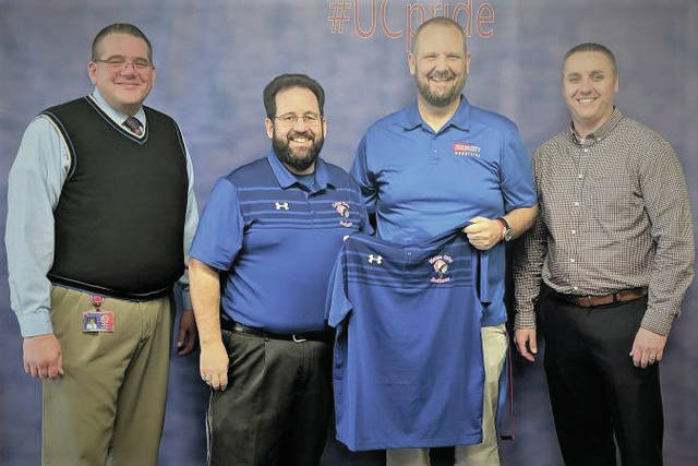 Coach Maloy and Administration team of the High School. (Courtesy Photo)