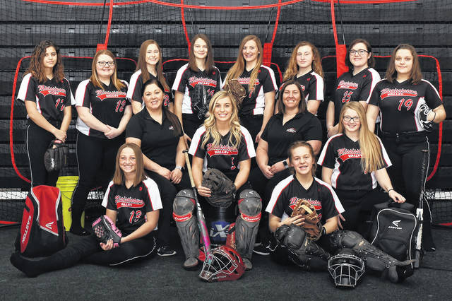 Mississinawa Valley 2019 Lady Blackhawks softball team.