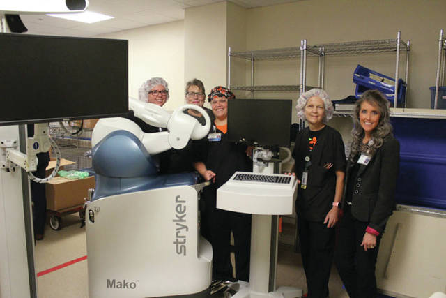 Shown are some members of the surgical team that works with the Mako Robotic-Arm and the Arthrex Endoscopic 4K Camera Systems. (Ryan Berry | AIM Media)