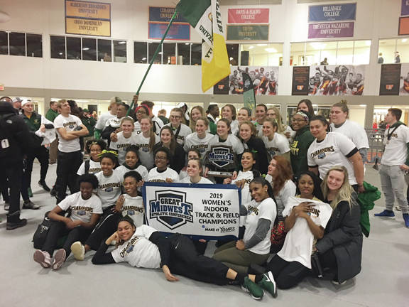 Tiffin University team wins first ever conference championship. (Courtesy Photo)