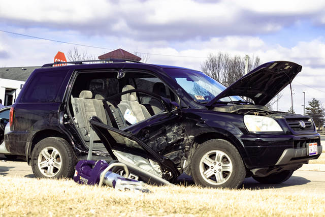 A woman had to be mechanically extricated from a vehicle by the Greenville City Fire Department before being transported to Wayne HealthCare for her injuries following a three-vehicle crash.