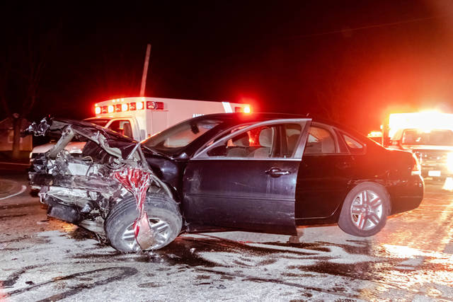 A driver was arrested Monday evening on suspicion of driving while intoxicated after being involved in a crash that sent one person to the hospital.