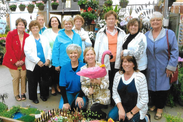 The Arcanum Garden Club is taking orders for hanging baskets of flowers until April 10.