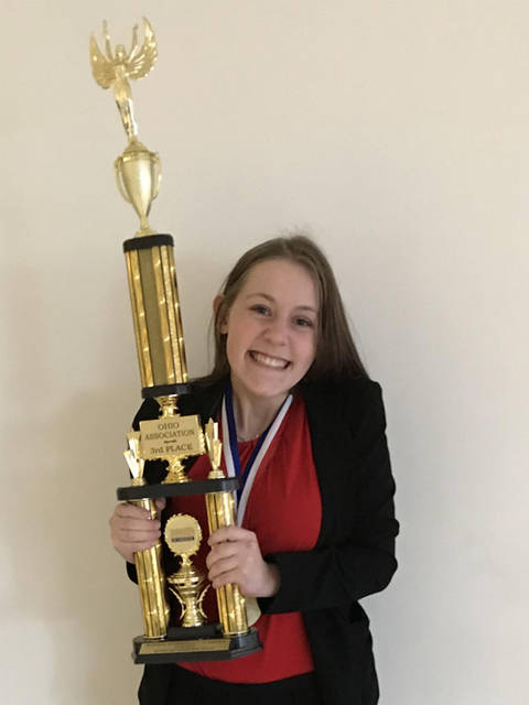 Rachel Unger of Greenville Senior High School will attend the Business Professionals of America 2019 National Leadership Conference in Anaheim, California.