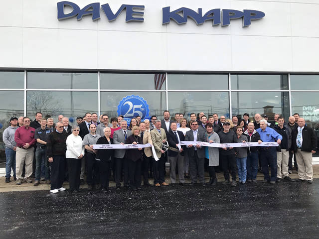 The Darke County Chamber of Commerce hosted a ribbon cutting Friday morning to recognize Dave Knapp Ford Lincoln's 25 years of business in Greenville.