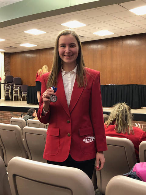 Jenna Mangen was among the Versailles FCCLA students to compete at regionals.