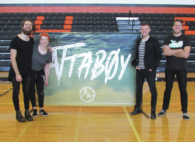 Fort Wayne, Indiana-based indie pop band Attaboy played afternoon and evening shows in the Arcanum-Butler Schools gymnasium Tuesday.