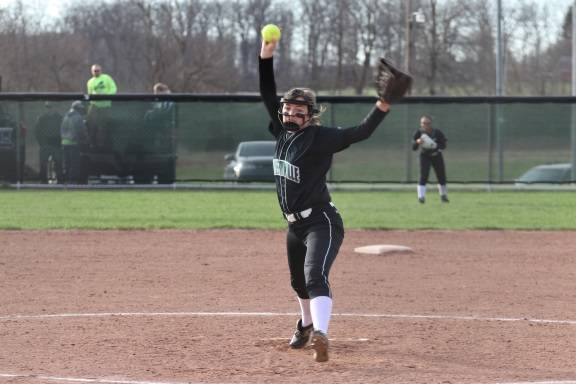 Caitlin Christman earns a save for the Lady Wave in run rule win over the Lady Skyhawks.