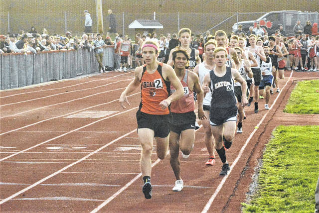 Runners compete in the Durkle Track & Field meat at Twin Valley South.