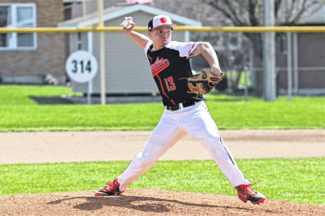 Adam Kremer picks up a win for the Versailles Tigers in Saturday win over the Eagles.