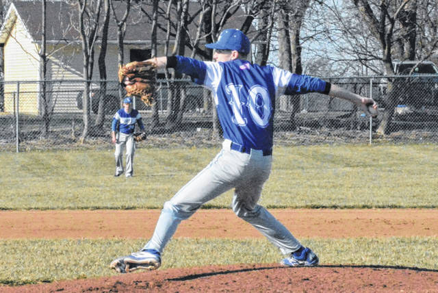 Brenden Hosler throws for Franklin Monroe Jets in game against National Trail.