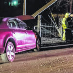 Teenage driver injured in single-vehicle accident