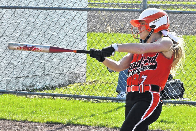 Emma Canan picks up a hit for the Lady Railroaders in Wednesday night win over the Lady Hawks.