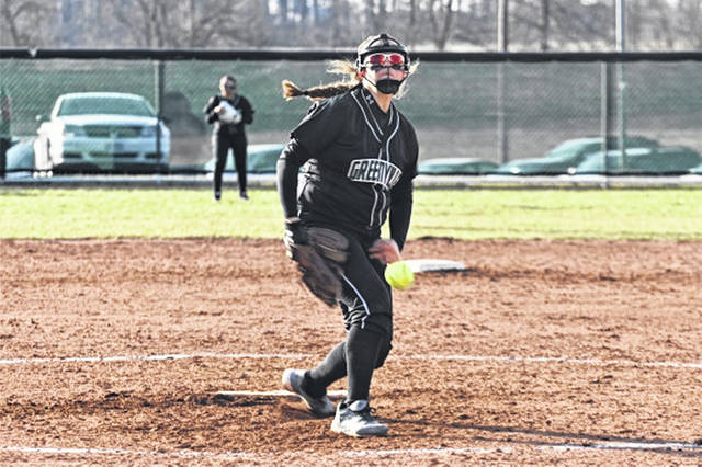 Kennedy Fashner pitches for the Lady Wave in win over the Troy Lady Trojans.