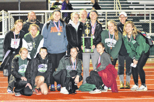Greenville girls earn second place trophy at Greenville Invitational.