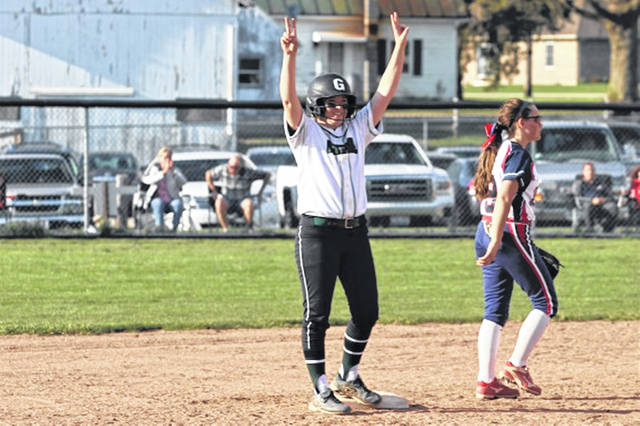 Lady Wave catcher Chloe Sowry recently collected a double in win over the Piqua Lady Indians.