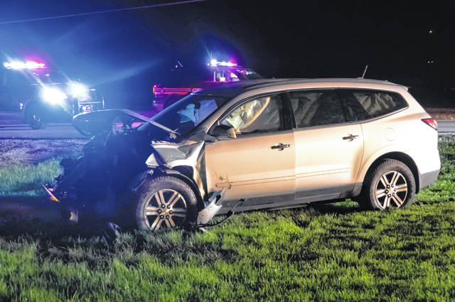 A crash outside Arcanum on Sunday resulted in injuries to a teen driver.