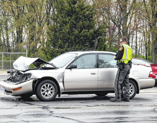 One person was transported following a two-vehicle crash Thrusday afternoon on South State Route 49 at Sherwood Forest.