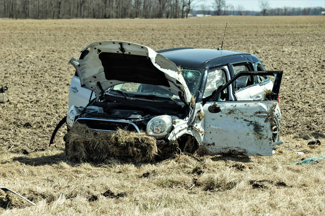 An Ansonia woman was hospitalized after she failed to negotiate a curve in the road and lost control of her vehicle, going off the left side of the roadway and rolling at least once before coming to rest in a field.