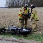 Motorcycle crash near Ansonia sends 1 to the hospital