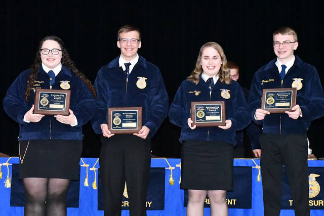 Outstanding Arcanum MVCTC FFA members included Sidney McAllister, Ethan Garbig, Anna Loxley and Landon Haney.