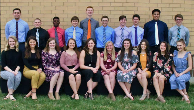 Arcanum High School announced its 2019 prom court. Pictured are (back row, l-r) juniors Grant Delk and Cory Ross; seniors Isaiah Hootman, Wade Meeks, Jimmy Barry, Trevor Fry, Justin Vanatta and Ethan Moores; juniors Jayden Heltsley and Austen Cutarelli; (front row, l-r) juniors Audrey Ball and Camille Pohl; seniors Jenna Haney, Niveka Gregg, Isabella Gable, Sadie Sink, Jenna Beatty and Erykah Hutcheson; and juniors Madison Magnani and Audrey Heiser.