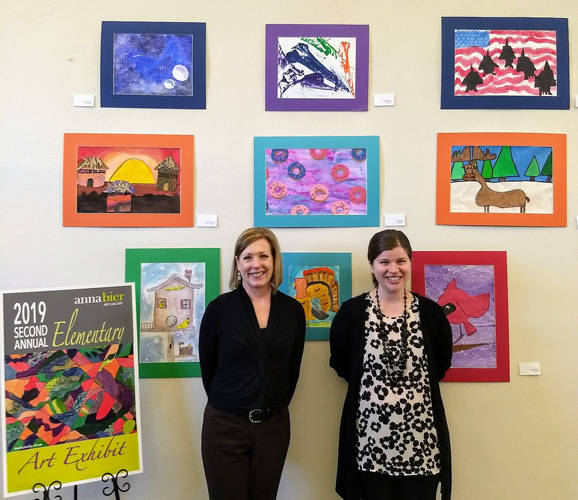 The Greenville Public Library is hosting the second annual K-6 Elementary Art Exhibit, which first hung in the Anna Bier Gallery.