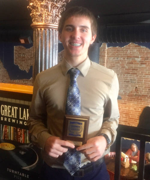 Mississinawa Valley High School's Zac Longfellow qualified for the Business Professionals of America national competition in payroll accounting.