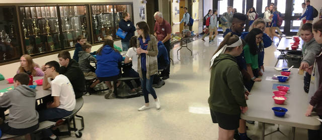 Lehman Catholic High School hosted a Manufacturing Day with students from St. Patrick Catholic School, Troy; St. Mary's Catholic School, Greenville; Immaculate Conception School,Celina; Holy Rosary Catholic School, St. Marys; Piqua Catholic School, Piqua; and Holy Angels Catholic School, Sidney.