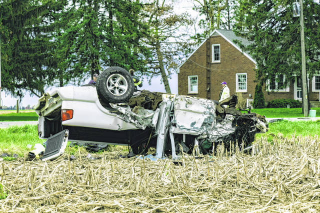 A two-vehicle accident Wednesday morning at State Route 49 South and Grubbs-Rex Road sent one driver to Miami Valley Hospital by CareFlight.