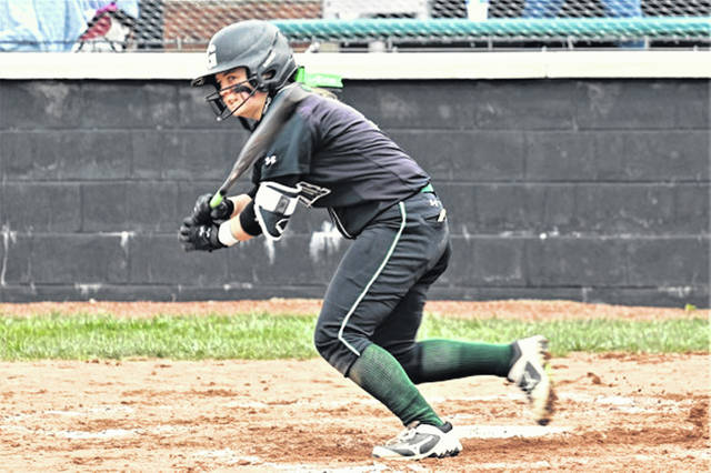 Morgan Gilbert drills a fifth inning leadoff double to left to lift the Lady Wave to a 2-1 win over the Miamisburg Lady Vikings.