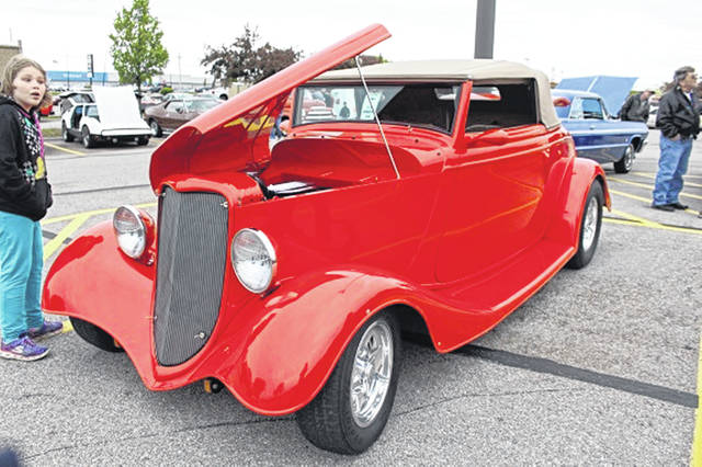 One of the many cars entered in the Rolling 50's Classics Car Show at Saturday's show.