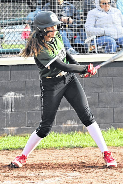 Lady Wave Natea Davidson picks up her game at the plate.