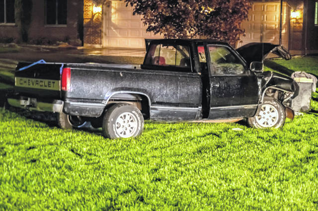 A driver is believed to have fallen asleep early Friday morning, escaping serious injury.