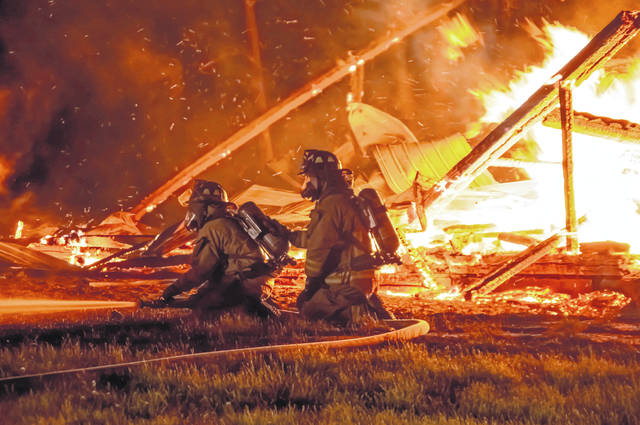 Ansonia Fire Department was joined by several other local fire companies in battling a barn fire on Beamsville-Union City Road.